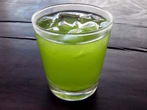 lemon grass and pandan iced tea
