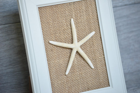 what better way to profess ones love for the beach than with starfish wall art right this handcrafted beauty is a great dcor for the bathroom wall or