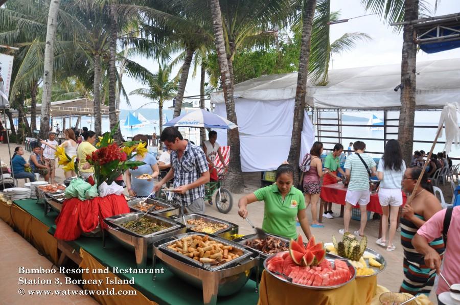 boracay food festival at bamboo boracay