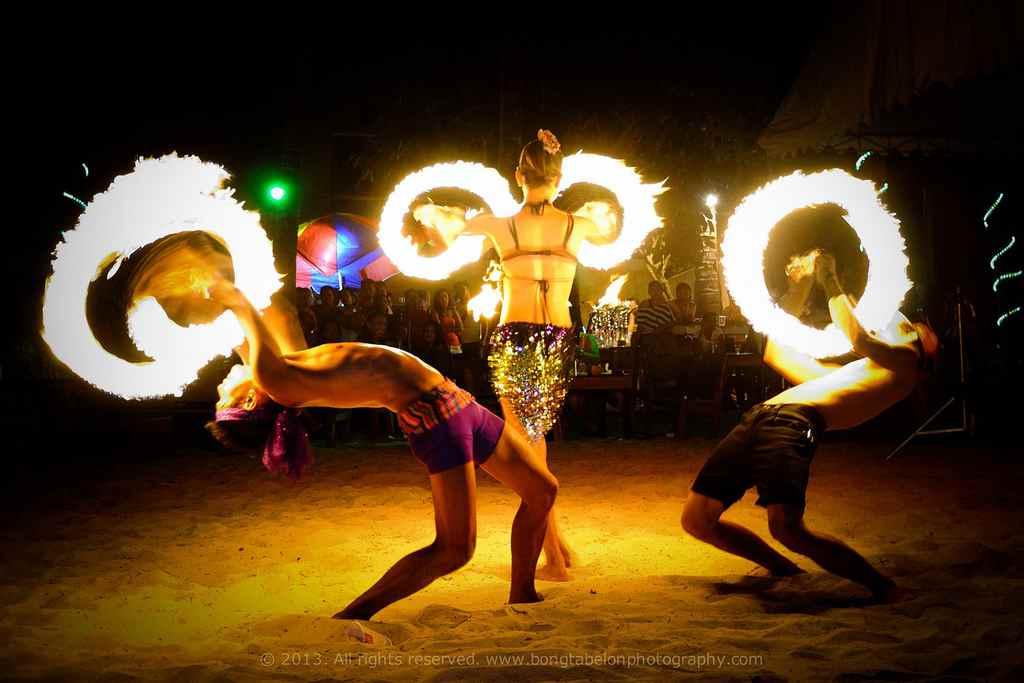 fire dancer in boracay